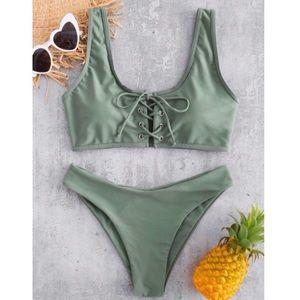 Zaful Lace up Bikini